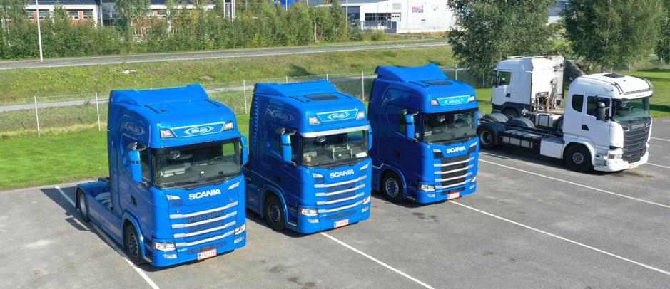 Scania Next Generation lastbilar med Ecosense Trailer Assist under installation